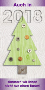 Weihnachtskarte Holzbau