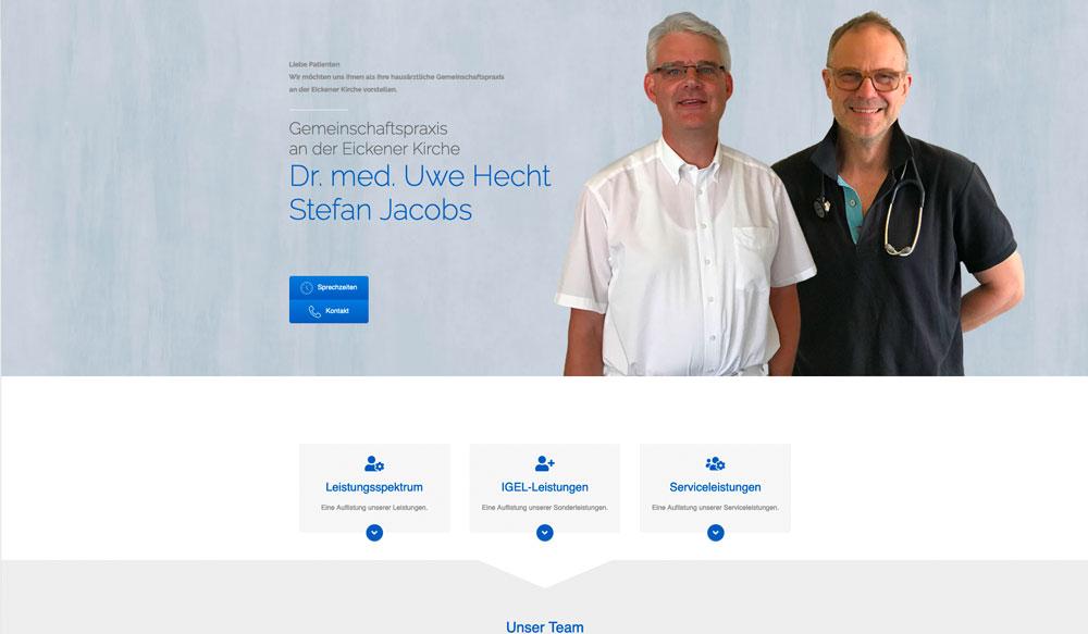 stocks-media website beispiel dr-hecht-jacobs.de